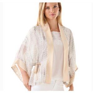 Club Monaco Cropped Roann Silk Kimono